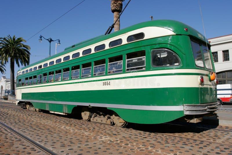 Tranvía histórico en San Francisco fotos de archivo