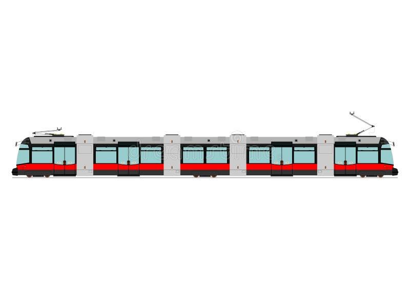 Tranvía moderna stock de ilustración