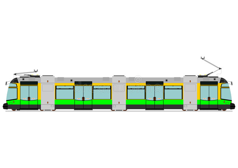 Tranvía moderna libre illustration