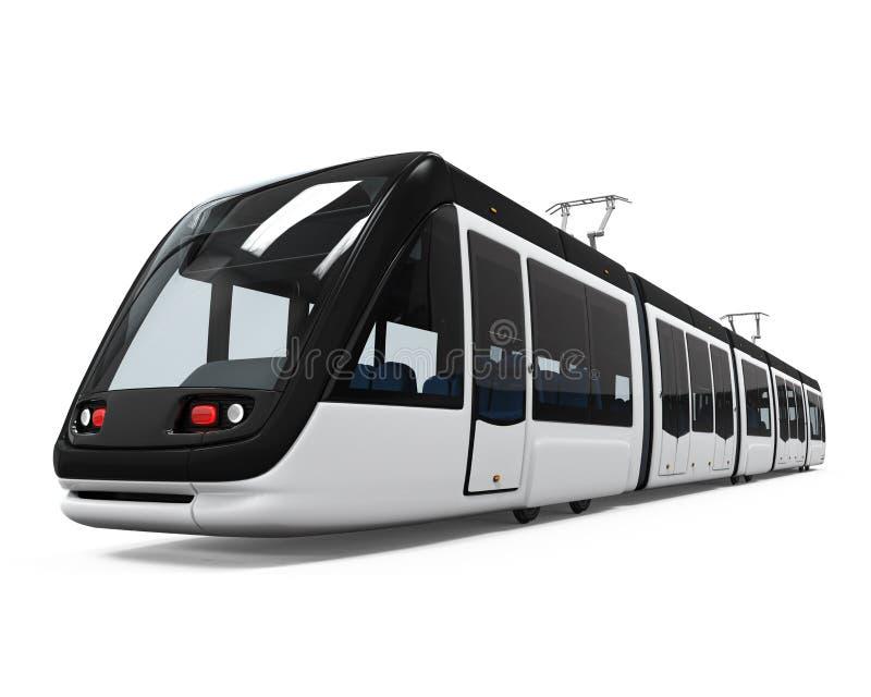 Tranvía moderna aislada ilustración del vector