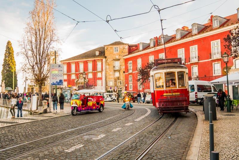 Tranvía roja foto de archivo libre de regalías