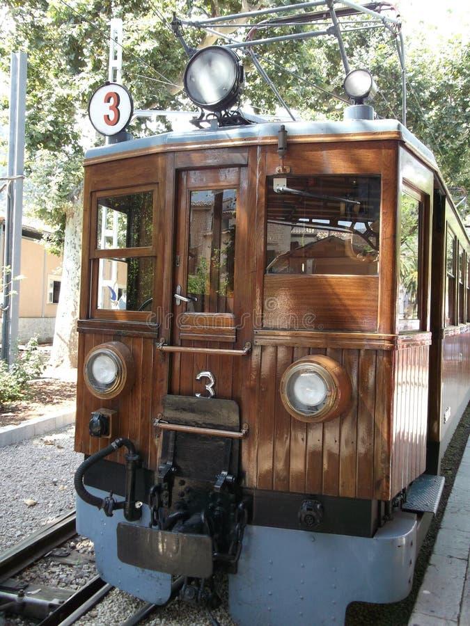 Tranvía, Soller, Majorca imagenes de archivo