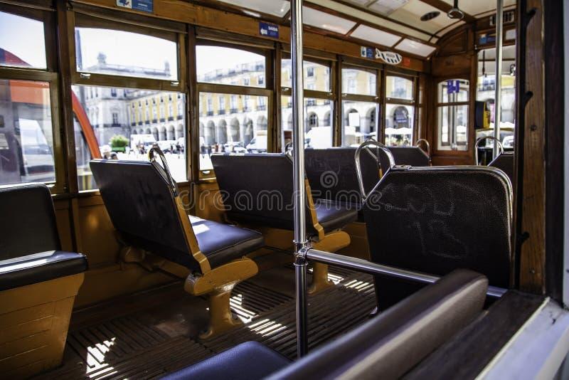 Tranvía típica de Lisboa imágenes de archivo libres de regalías