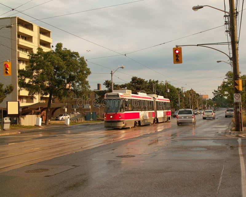 Tranvía, Toronto Ontario Canadá imagenes de archivo