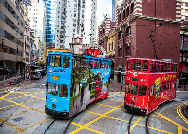 Tranvías de Hong-Kong fotografía de archivo libre de regalías