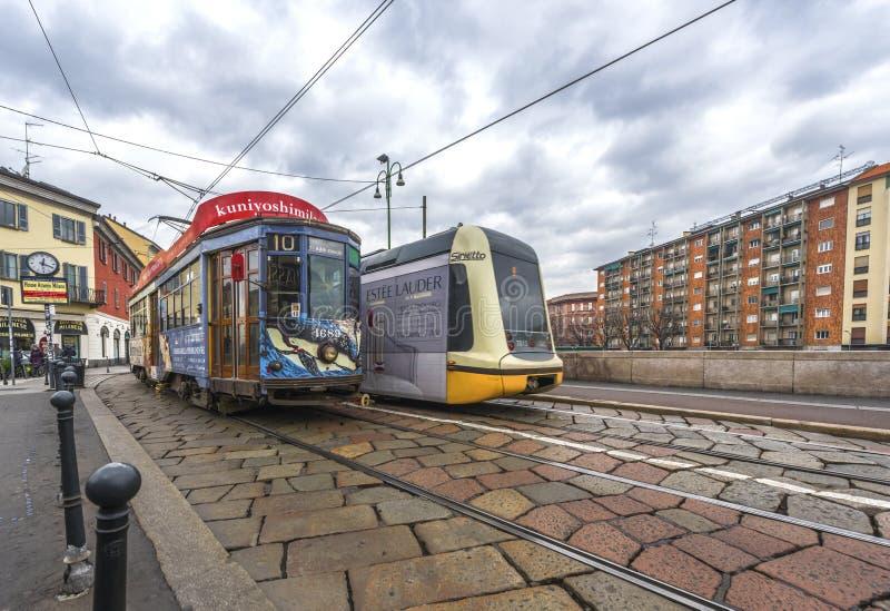 Tranvías de la ciudad imagen de archivo
