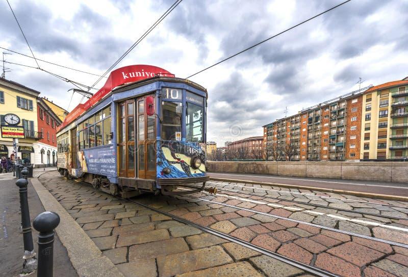 Tranvías de la ciudad fotografía de archivo