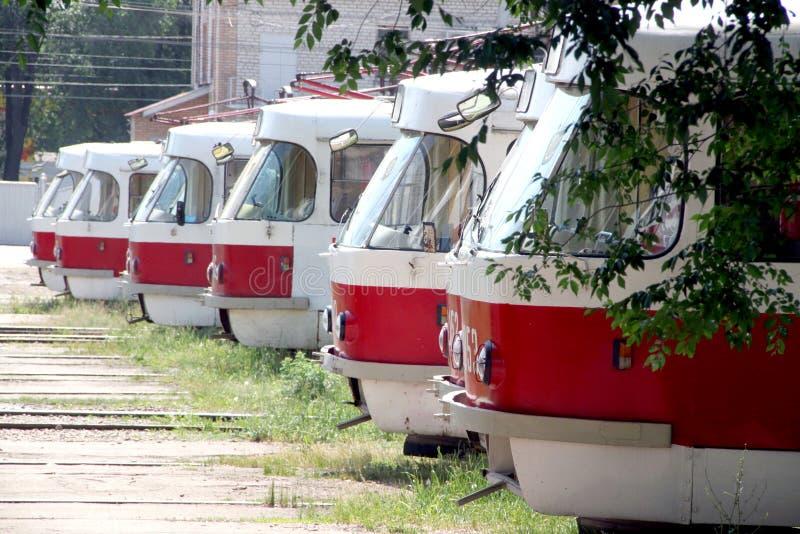 Tranvías de la ciudad de Rusia fotografía de archivo
