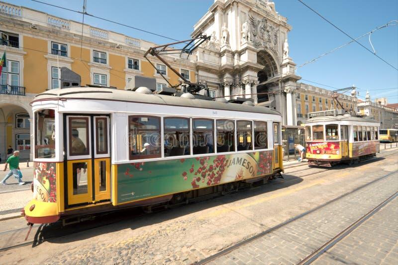 Tranvías de Lisboa foto de archivo