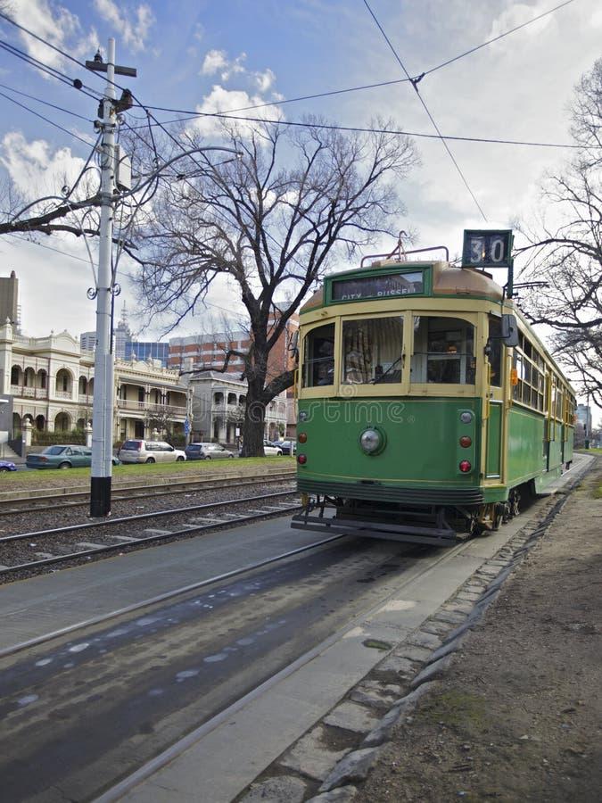 Tranvías en Melbourne, Australia foto de archivo