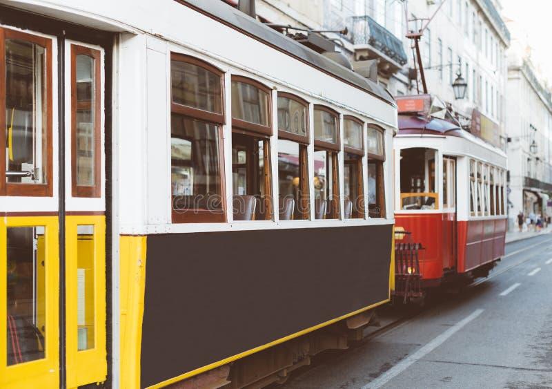 Tranvías famosas de Lisboa foto de archivo