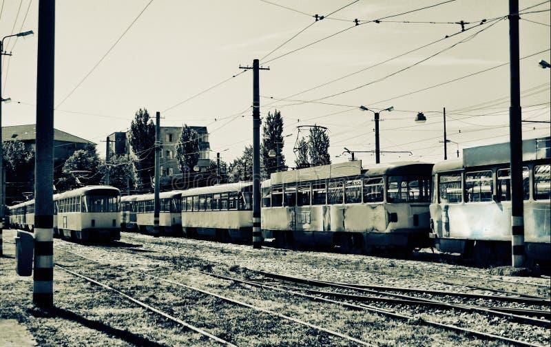 Tranvías viejas foto de archivo