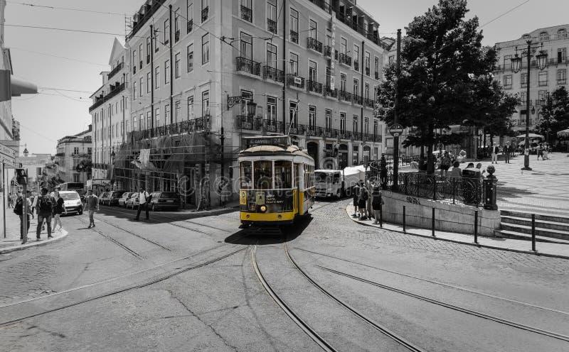 Tranv?a 28, Lisboa imagen de archivo libre de regalías