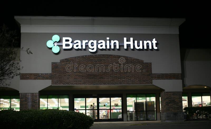 Tranzakcja polowania sklepu przód obraz stock
