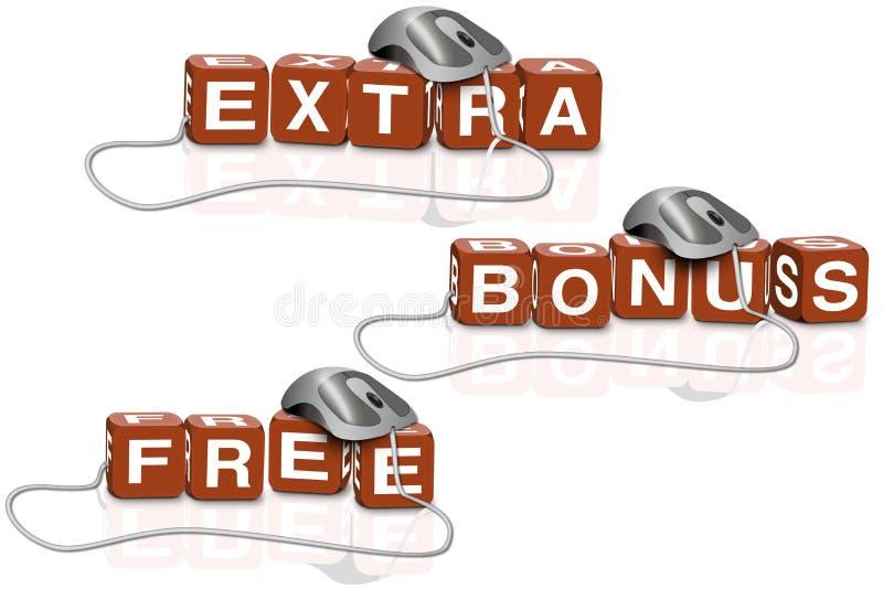 tranzakcja premiowego dodatku bezpłatny sprzedaży sklep royalty ilustracja