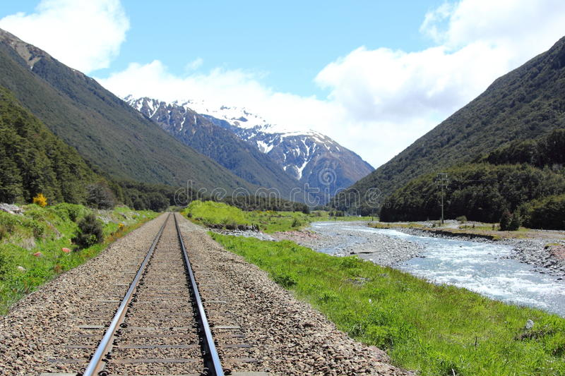 Tranzalpine, Neuseeland stockfotos