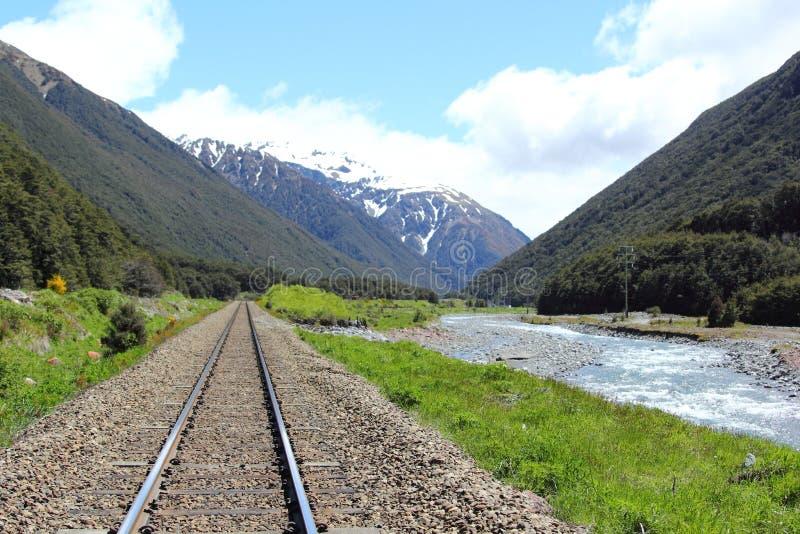 Tranzalpine, Nieuw Zeeland stock foto's