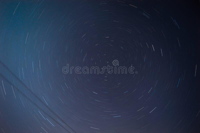 Traols longos da espiral da estrela da exposição fotos de stock royalty free