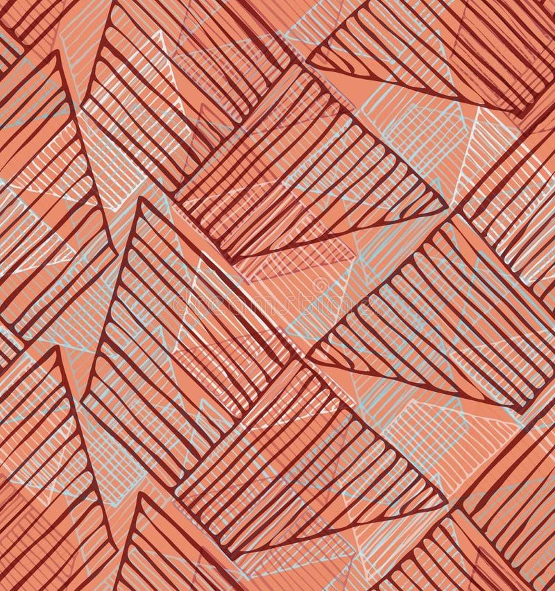 Trapézios chocados na laranja ilustração stock