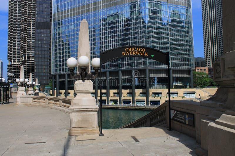 Chicago Riverwalk royalty-vrije stock foto