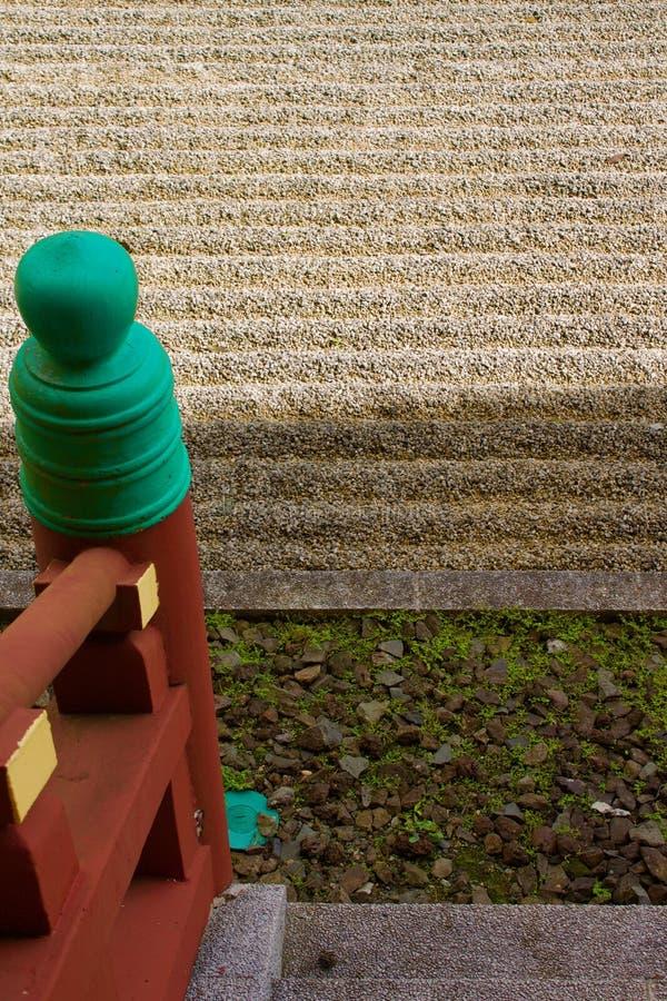 Trap aan zen, byodo-in tempel stock afbeelding