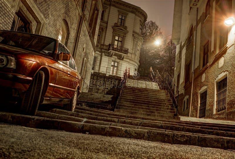 Trap en auto stock afbeeldingen