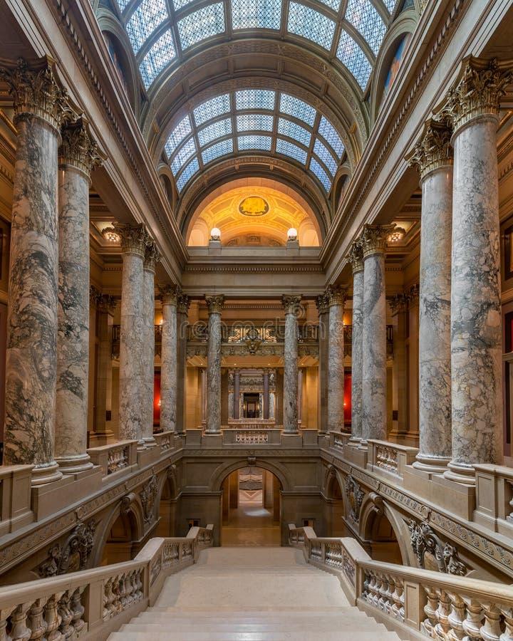 Trap in het Capitool van de Staat van Minnesota royalty-vrije stock afbeelding