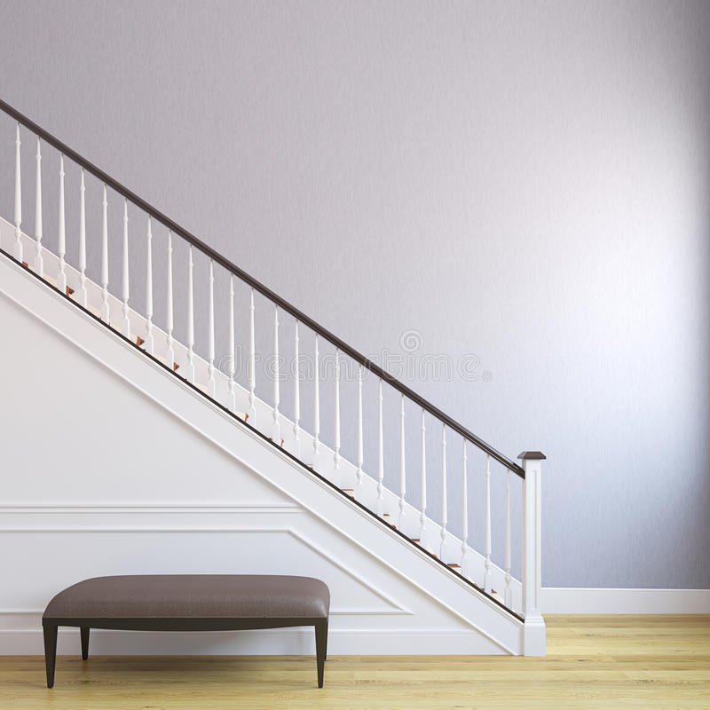 Trap in het moderne huis. vector illustratie