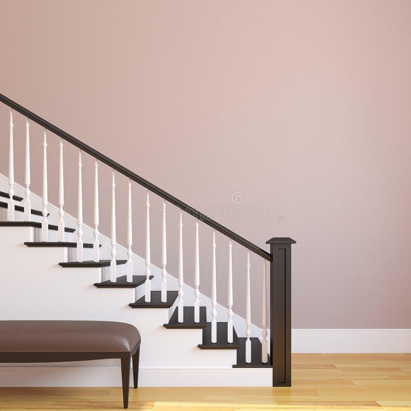 Trap in het moderne huis. stock illustratie