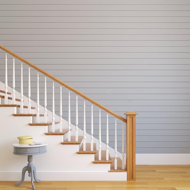 Trap in modern huis. royalty-vrije illustratie