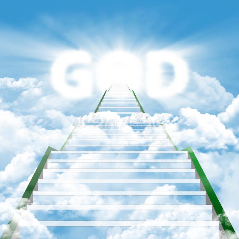 Trap om door de GOD samen te komen stock illustratie