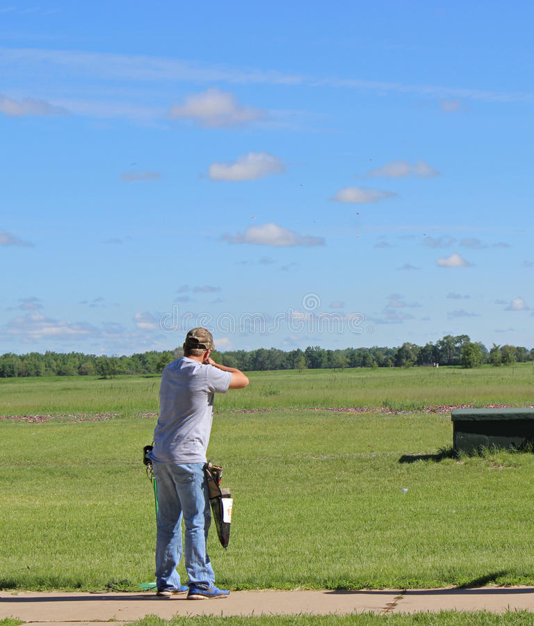 Trap Shooting stock images