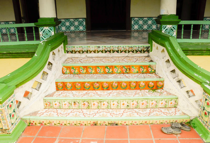 Trap van de Moskee van Luchtbarok in Jasin Malacca, Maleisië royalty-vrije stock afbeelding