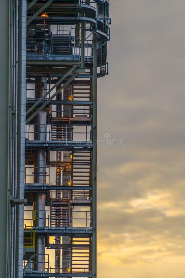 Trap van Elektrische centrale in de Vallei van Utah bij zonsondergang stock afbeeldingen