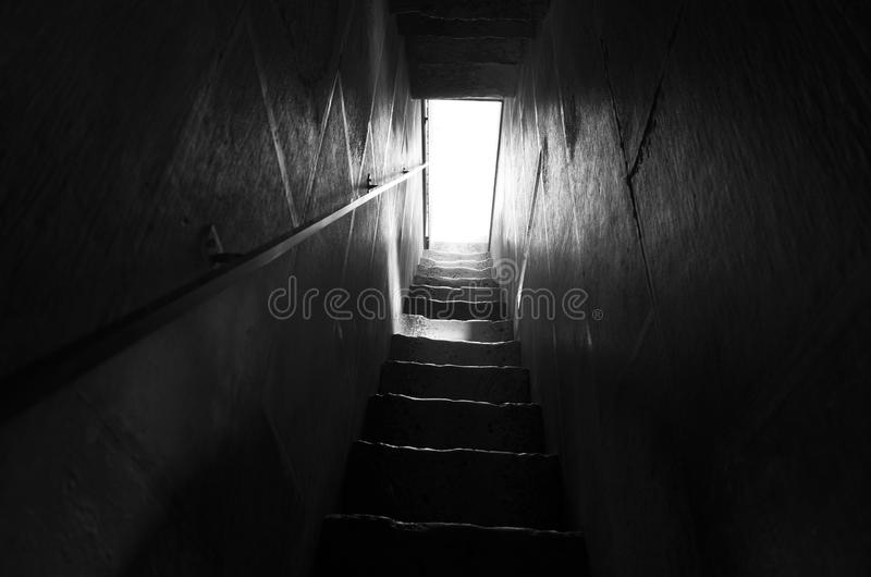 Trap in zwart-wit royalty-vrije stock foto