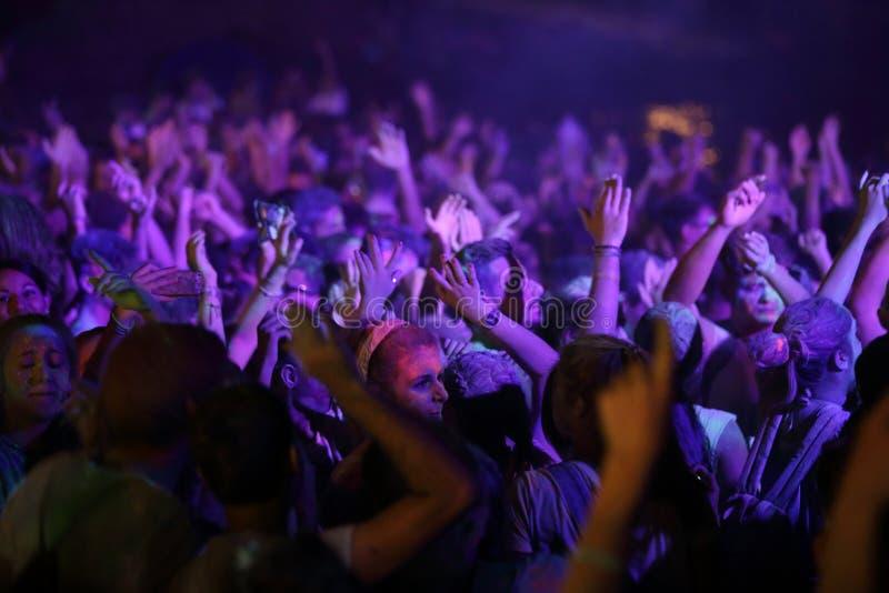 Trapani Cornino - 07/27/2017: Sommarfestivaler och utomhus- konserter royaltyfri foto