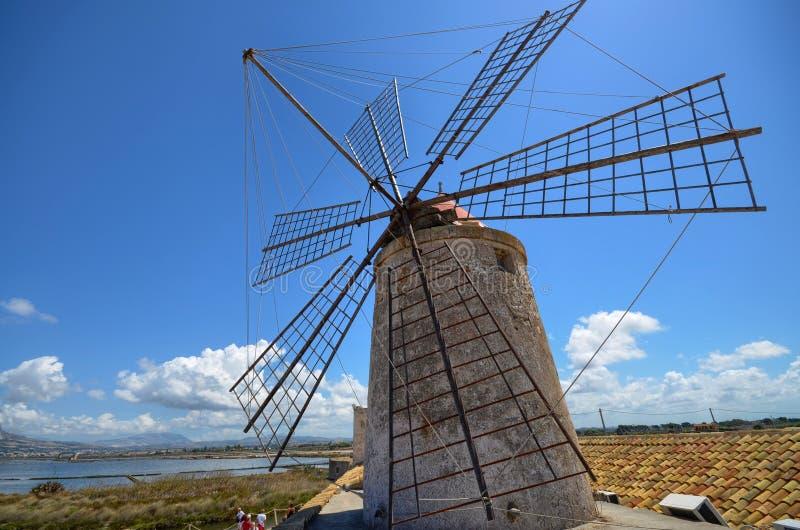 Trapani historyczni wiatraczki zdjęcia stock
