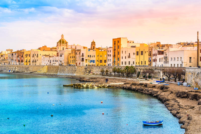 Trapani panoramic view, Sicily, Italy. royalty free stock images