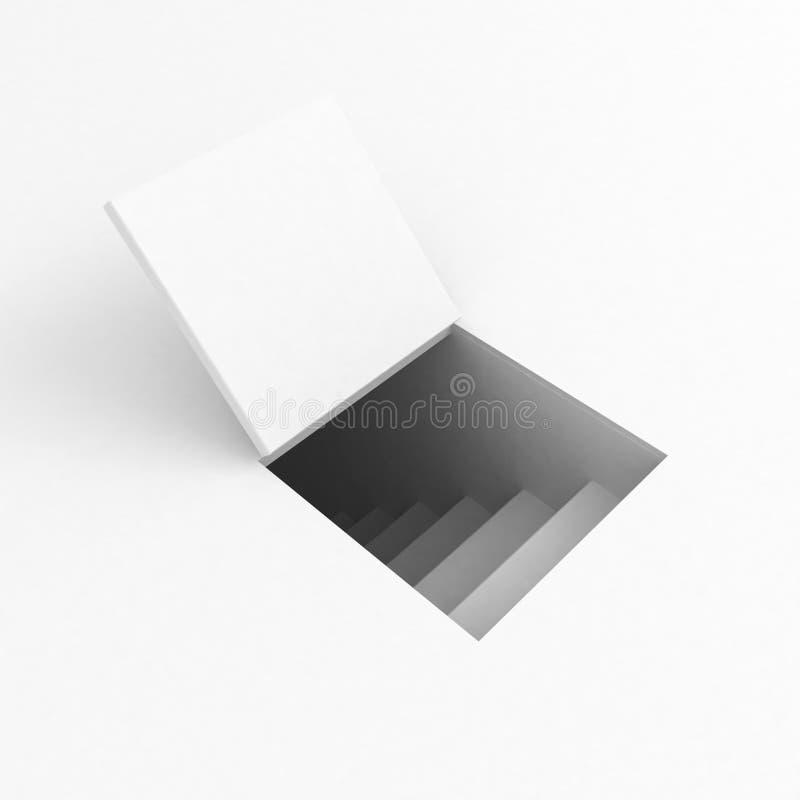 Trapdoor bianco illustrazione vettoriale