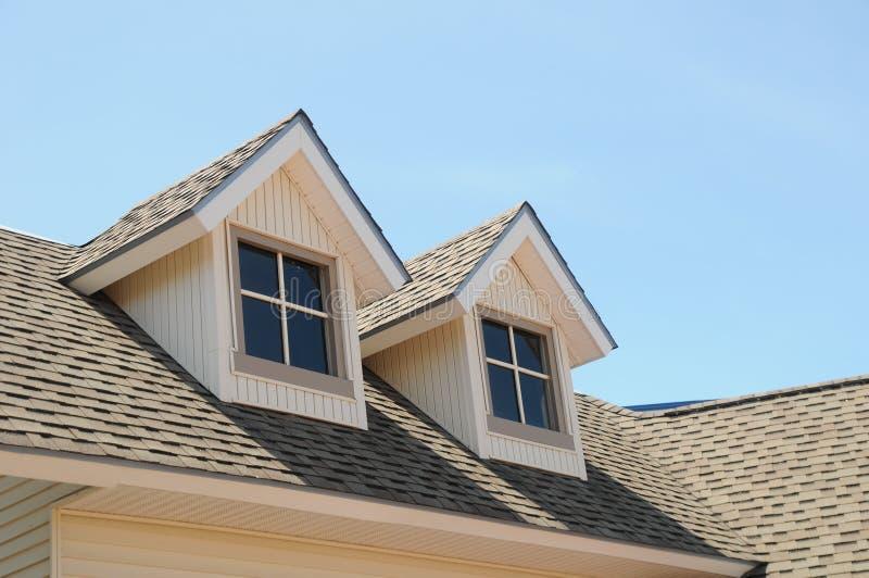 Trapeiras vitorianos do telhado do estilo em Mackinaw Michigan fotos de stock royalty free