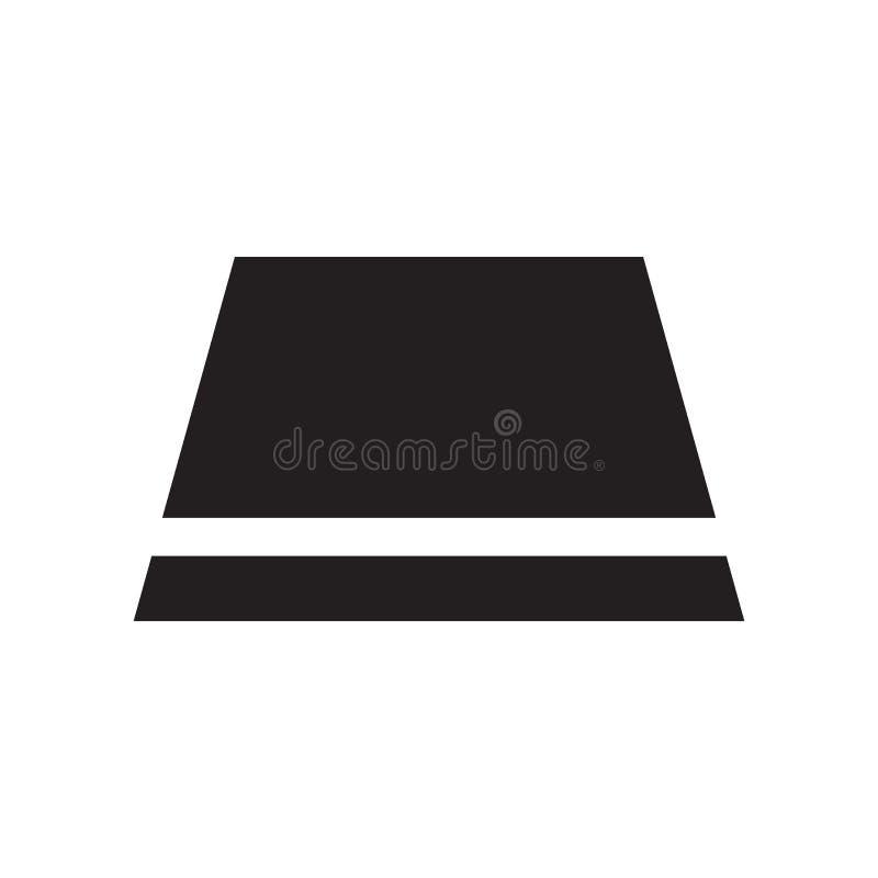 Trapez ikony wektoru znak i symbol odizolowywający na białym tle, trapezu logo pojęcie ilustracji