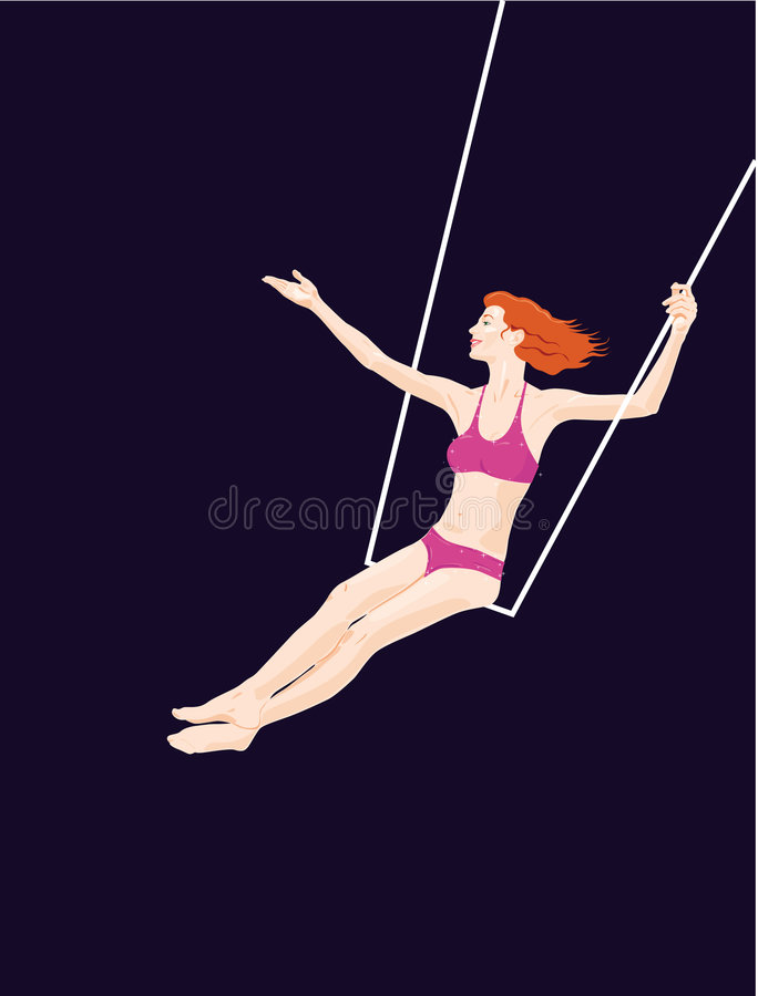 trapeze серии цирка иллюстрация вектора