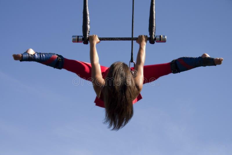 Trapeze de vol photo libre de droits