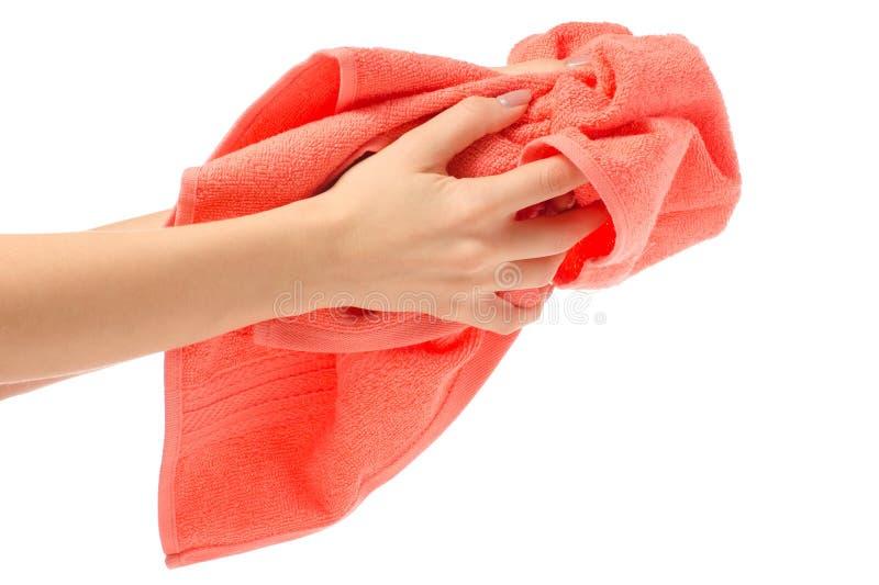 Trapo de la mano de la toalla fotografía de archivo libre de regalías