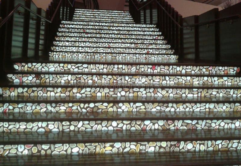 Trappa av stenen royaltyfria bilder