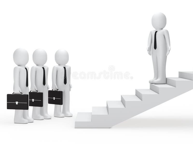 trappa för affärsmanledareshow långt vektor illustrationer