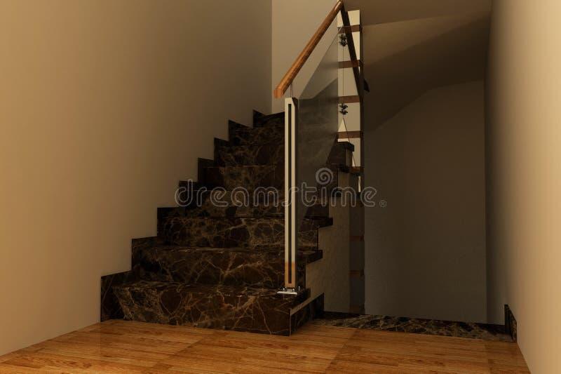 trappa för marmor 3d arkivbilder