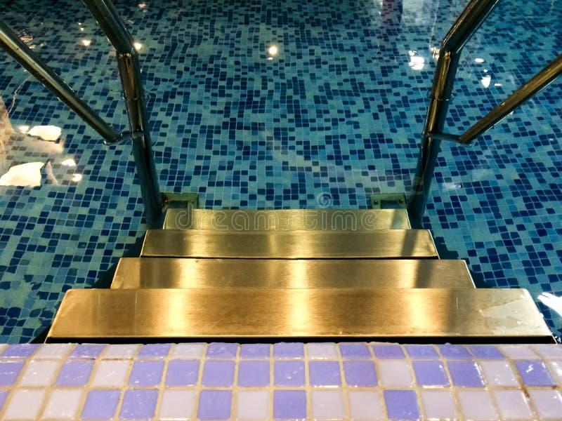 Trappa för vattenpöl inomhus royaltyfri bild
