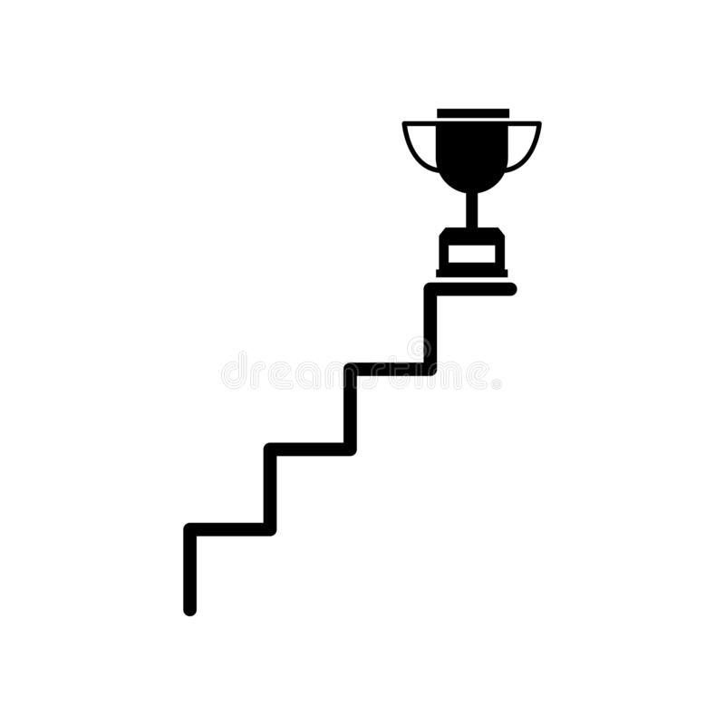 Trappa framgång, mål, upp symbol Kan användas för rengöringsduken, logoen, den mobila appen, UI, UX stock illustrationer