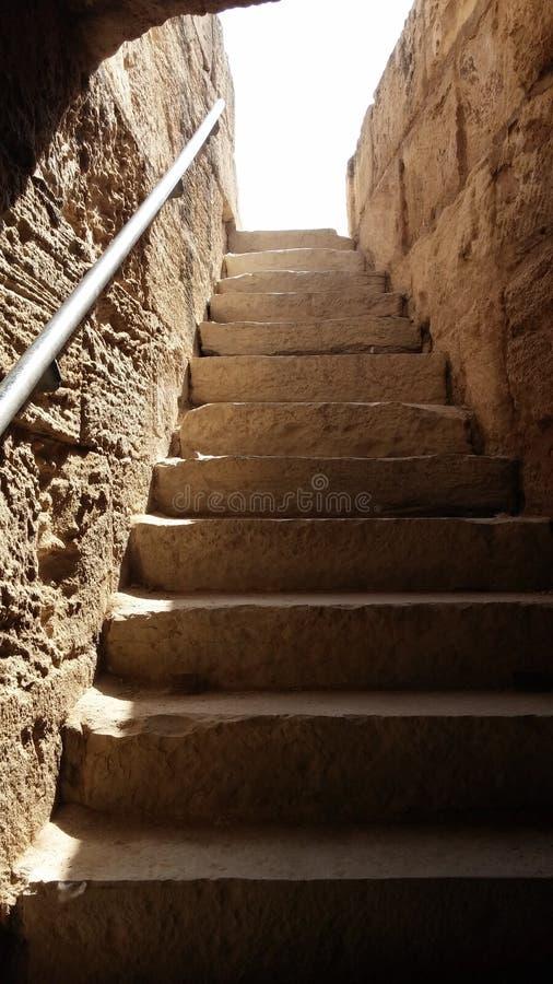 Trappa i amfiteatern od El Djem, Tunis royaltyfria bilder